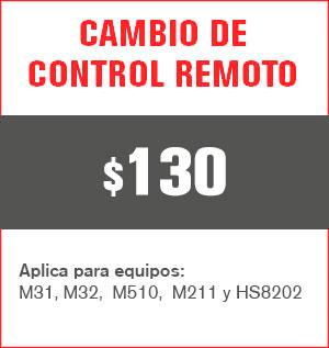 Cambio de control remoto precio 120 pesos y aplica para equipos M31, M32, M510, M211 Y HS8202......