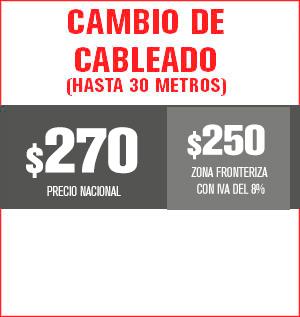 Cambio de cableado hasta 30 metros precio 255 pesos y aplica para equipos M31, M32, M510, M211 Y HS8202......