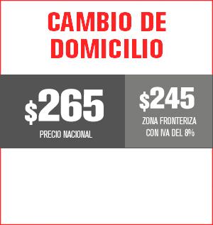 cambio de domicilio precio 250 pesos y aplica para equipos M31, M32, M510, M211 Y HS8202......