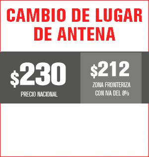 cambio de lugar de antena precio 220 pesos y aplica para equipos M31, M32, M510, M211 Y HS8202......
