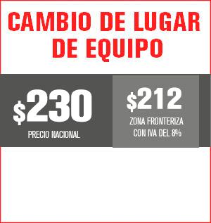 cambio de lugar de equipo precio 220 pesos y aplica para equipos M31, M32, M510, M211 Y HS8202......