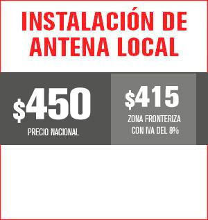 instalación de antena local precio 430 pesos y aplica para equipos M31, M32, M510, M211 Y HS8202......