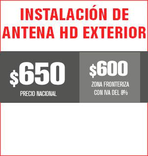 instalación de antena exterior hd precio 620 pesos y aplica para equipos M31, M32, M510, M211 Y HS8202......
