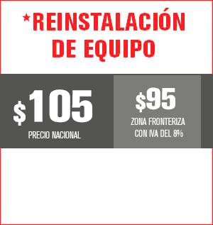 Reinstalación de equipo precio 100 pesos y aplica para equipos M31, M32, M510, M211 Y HS8202......