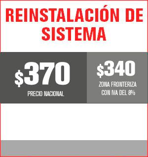 reinstalación del sistema precio 350 pesos y aplica para equipos M31, M510, M211 Y HS8202...... el equipo M32 tiene un costo de 460 pesos
